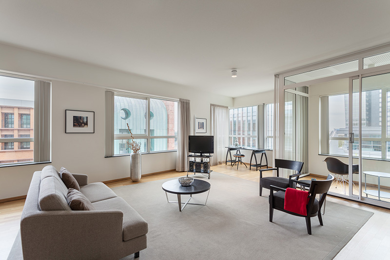 New Amsterdam - Two bedroom executive apartment - living room